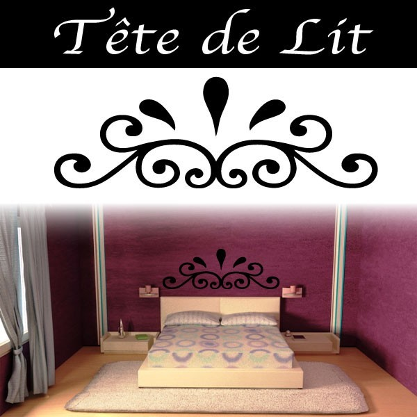 stickers t te de lit baroque france stickers. Black Bedroom Furniture Sets. Home Design Ideas