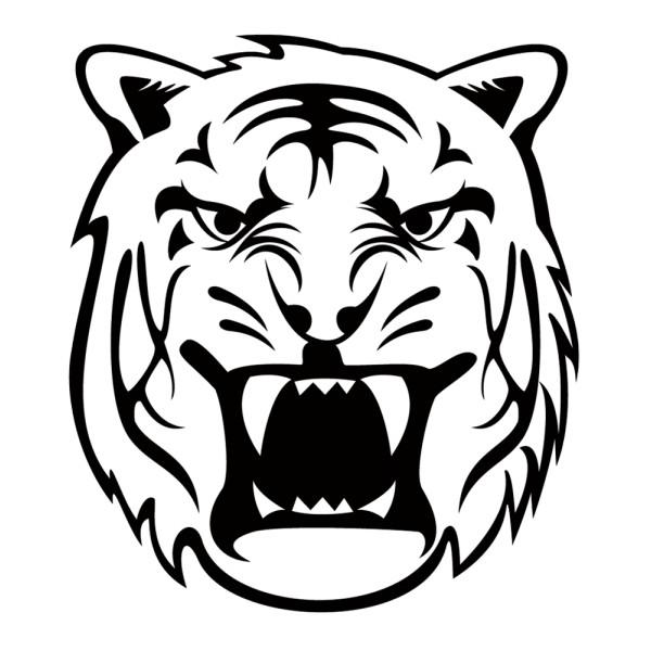 Stickers tuning tigre tribal france stickers - Image tete de tigre ...