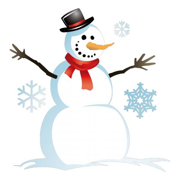 Stickers bonhomme de neige france stickers - Comment faire un bonhomme de neige en papier ...
