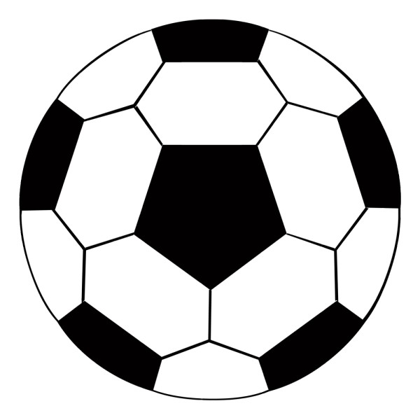 Stickers ballon de foot france stickers - Ballon de foot noir et blanc ...