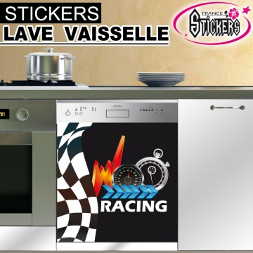 stickers lave vaisselle racing france stickers. Black Bedroom Furniture Sets. Home Design Ideas