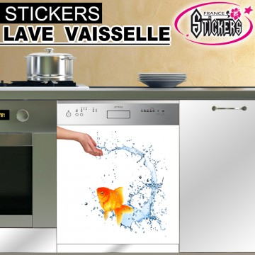 stickers lave vaisselle poisson france stickers. Black Bedroom Furniture Sets. Home Design Ideas