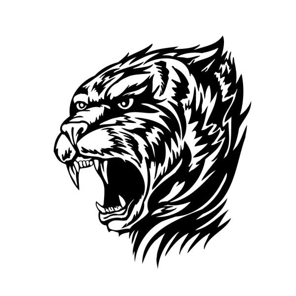 Stickers tuning voiture tigre tribal france stickers - Image tete de tigre ...