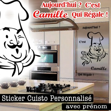 Stickers chef cuistot france stickers - Sticker mural personnalise ...
