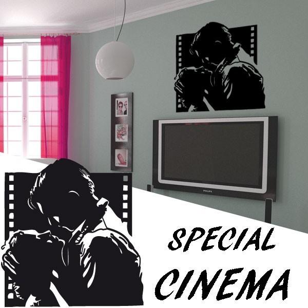 stickers couple c l bre du cin ma am ricain france stickers. Black Bedroom Furniture Sets. Home Design Ideas
