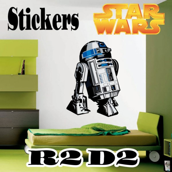 Stickers star wars r2d2 france stickers for Autocollant mural star wars