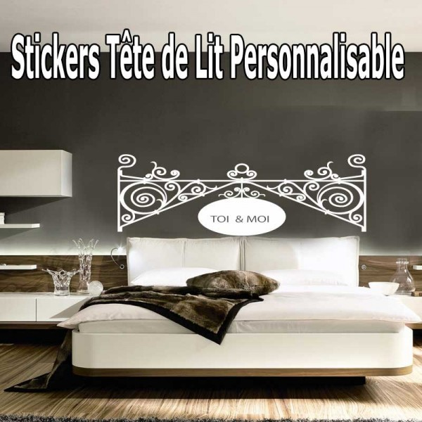 stickers t te de lit baroque personnalis france. Black Bedroom Furniture Sets. Home Design Ideas
