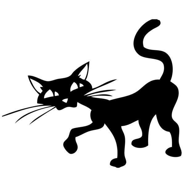Sticker chat noir france stickers - Dessin chat noir ...