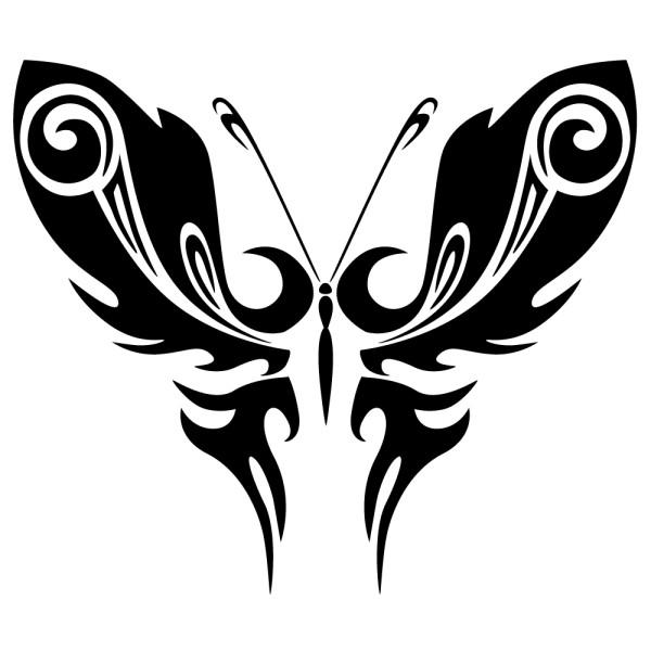 Sticker papillon tribal france stickers - Tribal papillon ...