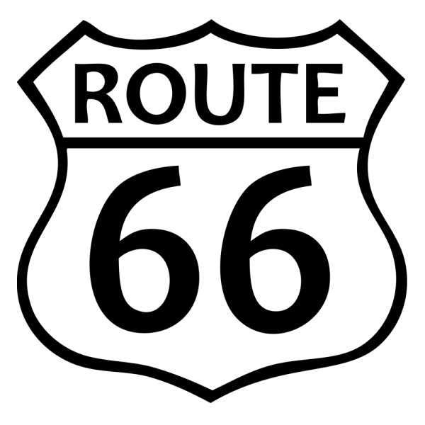 Sticker route 66 pas cher france stickers for Converse logo interieur ou exterieur