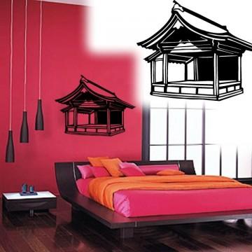 stickers Temple Asiatique