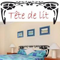 Tête de lit style floral