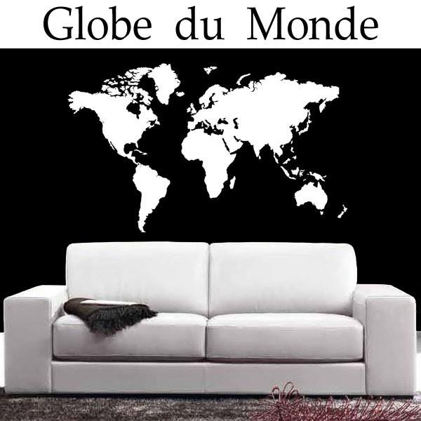 Sticker Carte Du Monde France Stickers