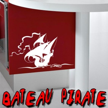 stickers Bateau de Pirate 2