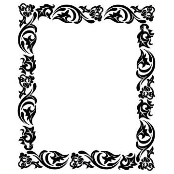 stickers Cadre Baroque 5