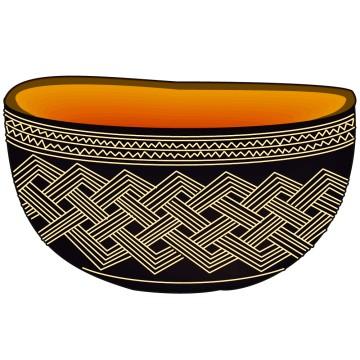 stickers Vase africain