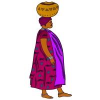 Jeune Femme portant un pot au lait sur la tête