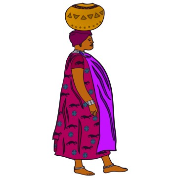 Stickers Femme Africaine 4