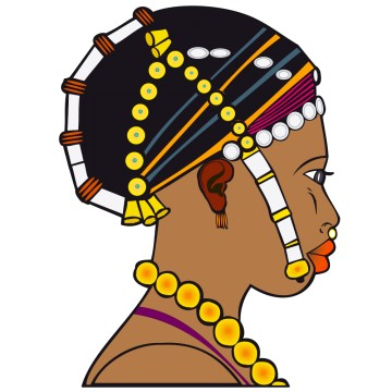 Stickers Femme Africaine 6