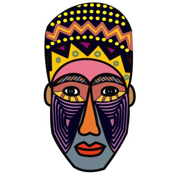 Stickers masque africain france stickers - Dessin de masque africain ...