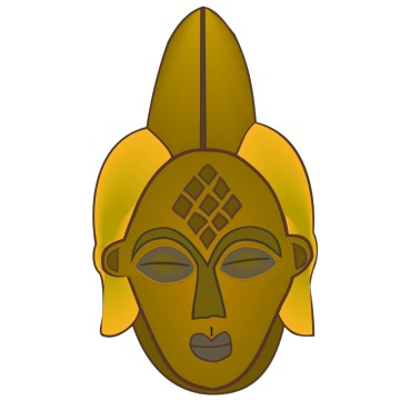 Stickers Masque Africain
