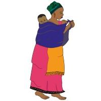 Jeune Femme Africaine avec son bébé