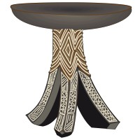 Petite Table Africaine