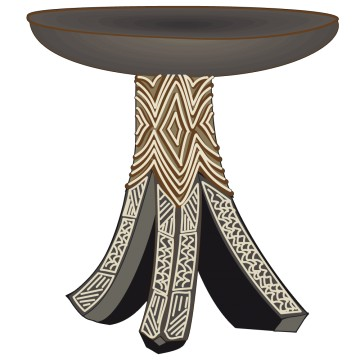 Stickers Table Africaine