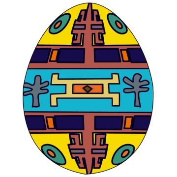 Stickers Afrique Œuf décoratif