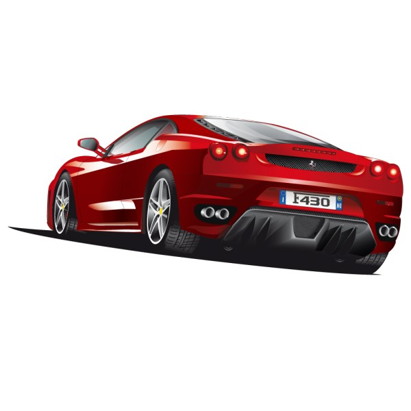 sticker voiture de sport ferrari france stickers. Black Bedroom Furniture Sets. Home Design Ideas