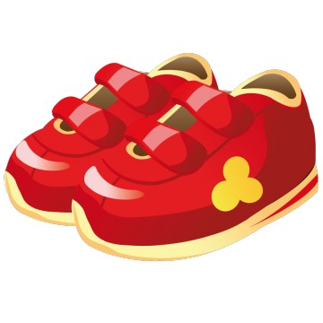 stickers Chaussure enfant Rouge