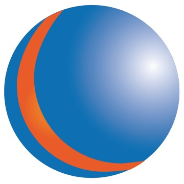 stickers Ballon bleu et orange