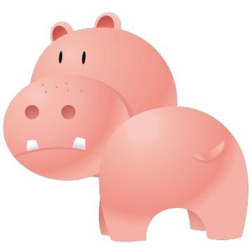 stickers Hippopotame 2