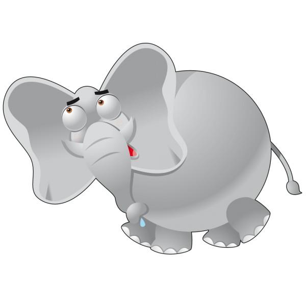 Stickers l phant rigolo france stickers - Dessin elephant rigolo ...