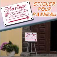 Sticker Personnalisé pour Panneau de Mariage