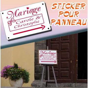 Stickers Mariage Panneau Signalisation Personnalisé