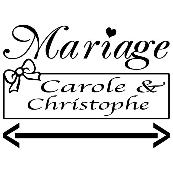 stickers mariage personnalis pour panneau. Black Bedroom Furniture Sets. Home Design Ideas