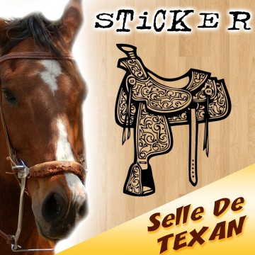 Sticker Selle de Cheval Texan