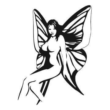 stickers femme Lady Papillon 2