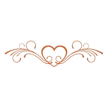 Stickers Mariage Coeur Floral 4