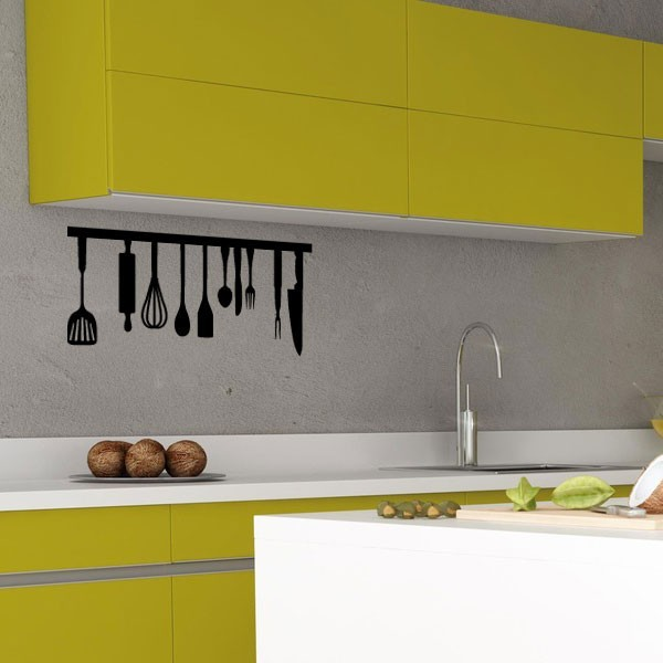 stickers ustensiles de cuisine pas cher france. Black Bedroom Furniture Sets. Home Design Ideas