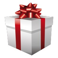 Cadeau de Noël Nœud Rouge