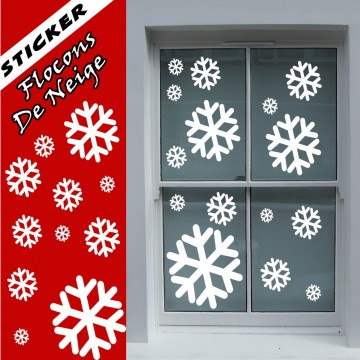 stickers Flocons de Neige de Noël en planche 1