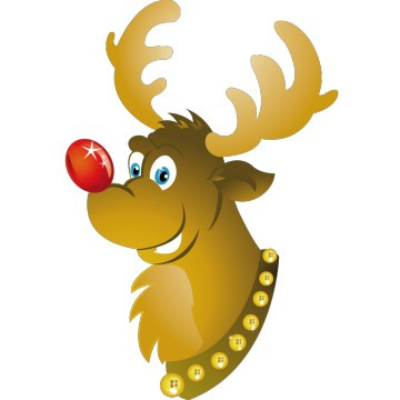 Stickers Renne de Noël 1