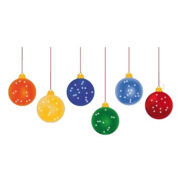 Stickers Boules de Noël Multicolores