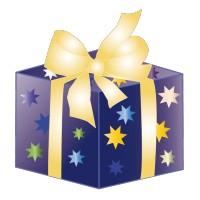Cadeau de Noël Nœud doré