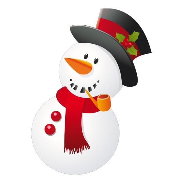 Stickers bonhomme de neige avec sa pipe france - Clipart bonhomme de neige ...