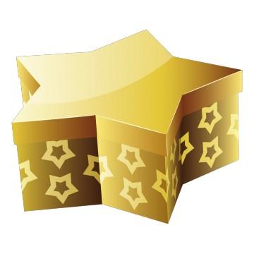 Stickers Étoile de Noël dorée