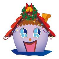 Maisonnette de Noël Violette