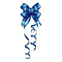 Ruban de Noël Bleu